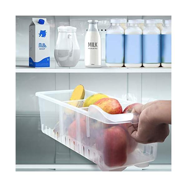 Organizador de Almacenamiento 2 Pcs- Almacenamiento para refrigerador -(40cmx12cmx16cm)–