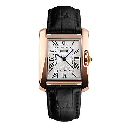 AZPINGPAN Square Women Wristwatch,Ladies Thin Minimalist Fashion Casual Simple Leather Band Dress Quartz Classic Wrist Watch,Waterproof Electronic Women's Wear Creative Clock