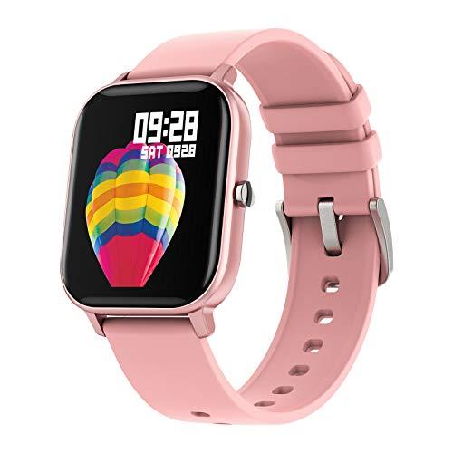 Reloj Inteligente LIGE Para Mujeres Con Monitor De Frecuencia Cardíaca,Pantalla Táctil De 1,4 Pulgadas,Podómetro IP67,Reloj De Fitness Para Con Monitor De Sueño,Contador De Pasos Para Android iOS Rosa