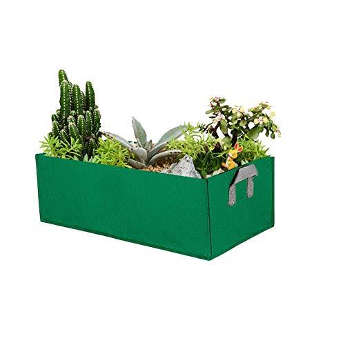 Jardinière de Culture, Pots en Tissu Non-tissé à côtés Souples et Respirants avec poignées de Sangle pour la Salade de légumes de Jardin en Plein air. Pot de Culture pour Sachet de Culture (Vert/M)