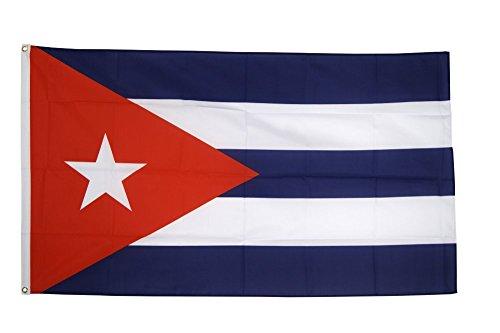 Fahne / Flagge Kuba + gratis Sticker, Flaggenfritze®