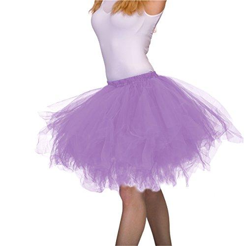 Dancina Plus Size Tutu Adult Vintage Petticoat Tulle Tutu Skirt [XXL] Plus Size 12-24 Lavender