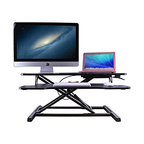 Plataforma ancha ajustable del escritorio de la altura con la bandeja del tablero dominante/resorte del gas/para el hogar y la oficina