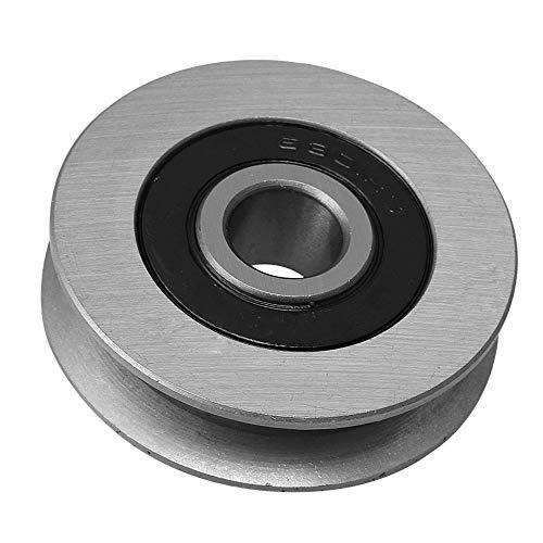 CNBTR 12x50x13MM rodamiento de hierro polea de cable de acero en forma de U rodamiento de rueda de ranura polea load-cojinete 512KG para equipos industriales