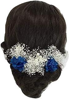 花職人の店 いるでぱいん 髪飾り かすみ草とあじさいミックス 3本セット 造花 アートフラワー プリザーブドフラワー ヘアーアクセサリー ウエディング ブライダル 子供 花