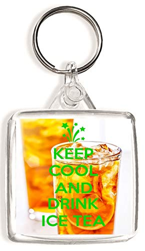 Keep Calm and Drink Ice Tea - Square Keyring