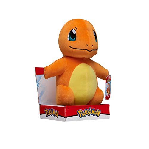 Pokémon Plüsch Kuscheltier Charmander Glumanda 30 cm, Neue Pokemon Spielzeug 2021, Offiziell von Pokemon Lizenziert