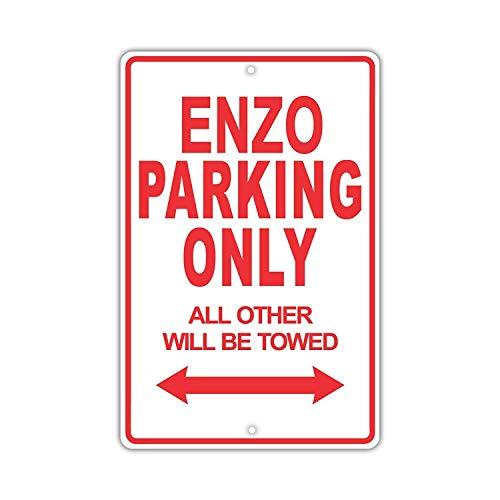 YASMINE HANCOCK Ferrari Enzo Parking Only Placa Metal