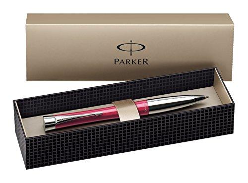 Parker S0767160 Urban-Kugelschreiber (Cool magenta mit Chromverzierungen, blaue Tinte)