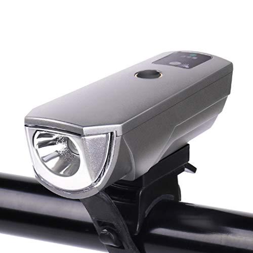 FAPROL Fiets Licht Fiets Koplamp USB Opladen Waterdicht 2000mAh 350 Lumen, Vier Verlichting Modi Dubbele Zijlicht