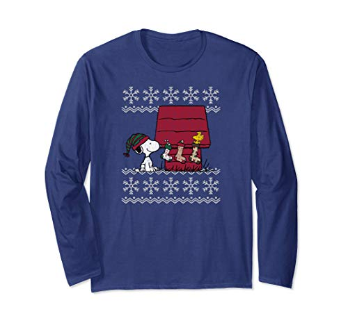 Peanuts Weihnachten Snoopy Strümpfe Langarmshirt