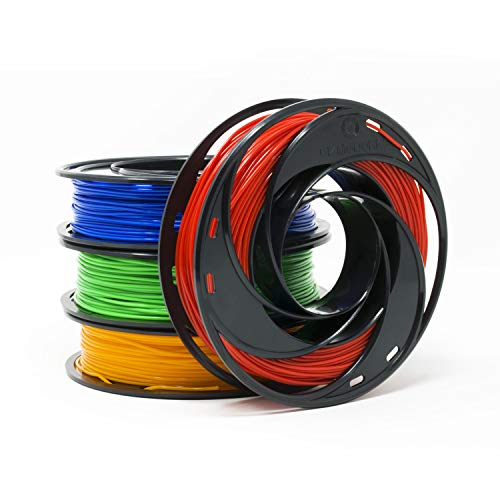 Gizmo Dorks PLA Filament for 3D Printers 1.75mm 200g, 4 Color Pack - Blue, Green, Orange, Red