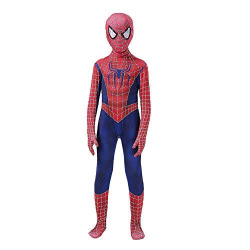 YME Superhero Costume for Kids Bodysuit 3D Halloween Cosplay Costumes(LMSM,XS)