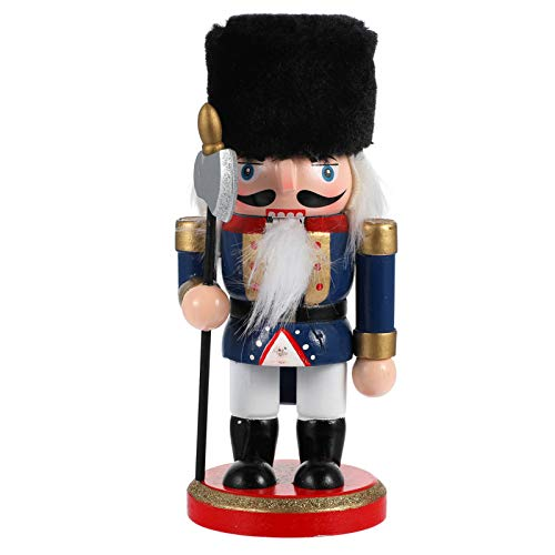 BESPORTBLE Wooden Nutcracker Figures Nutcracker Doll Figurine Puppet Toys Christmas Soldier Model Pendant Ornament with Ax for Xmas Party Home Table Car Decor