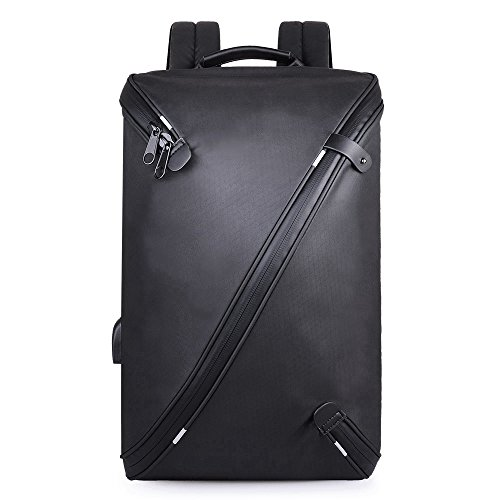 TEYUN Canvas Laptop Backpacks Fashionable casual light backpack, simple and generous design, suitable for use outside (Color : Black)