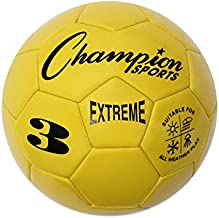 Champion Sports Extreme Series Soccer Ball, Size 3 - Youth League, All Weather, Soft Touch, Maximum Air Retention - Kick Balls for Kids Under 8 - Competitive and Recreational Futbol Games, Yellow
