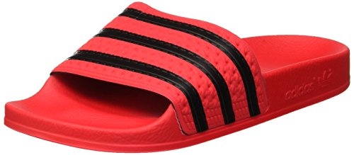 adidas Adilette, Herren Pantoffeln, Rot (Real Coral S18/core Black/real Coral S18), 37 EU (4 UK)