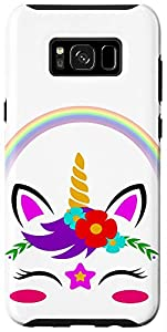 Magical Colorful Unicorn Face with Flowers Galaxy Case
