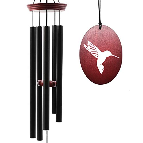 Wind Chimes for Outside, Wind Chimes Outdoor Tuned Soothing Melody, Memorial Wind Chimes Gifts for Mom/Grandma, Hummingbird Wind Chimes Outdoor Decoration, Patio, Garden, Yard.
