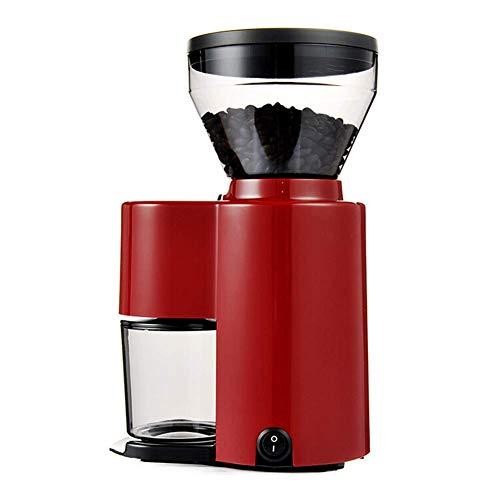 HaoLi Moulin à café électrique entièrement Automatique Moulin à café Italien Petit Moulin à café Rouge
