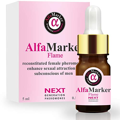 AlfaMarker Flame Pheromone Oil for Women to Attract Men-Pheromone Perfume for Women -Human Pheromones for Her-Mujer Perfume con Feromonas para Atraer Hombres 5ml