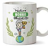 Mugffins Nonna Tazza/Mug - Migliore Nonna del Mondo - Idea Regalo Festa della Mamma/Tazza Migliore Nonna in Ceramica. 350 ml