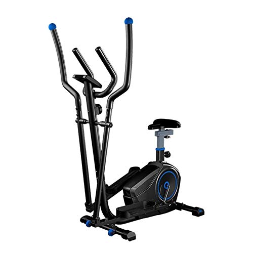 WGFGXQ Entrenador de máquina elíptica Máquina de Ejercicio elíptica para Uso doméstico Bicicleta Life Fitness con Resistencia magnética Fywheel Pedal Extra Grande y Monitor LCD de Alta Resistencia
