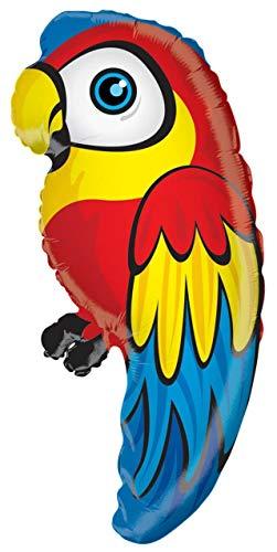Folienballon Papagei ca. 70cm Luftballon-Markt GmbH 34959-28-1