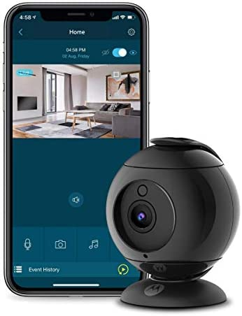 Motorola Focus89 Wireless Indoor Camera for Home Security Surveillance System with Sound and product image