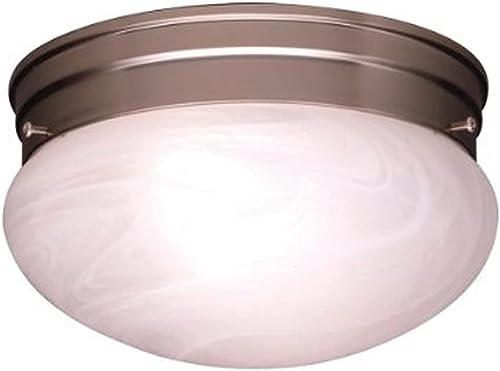 wholesale Kichler 8209NI Ceiling sale Space Flush Mount 2-Light, discount Brushed Nickel outlet sale