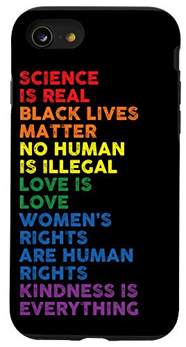 iPhone SE (2020) / 7 / 8 Distressed Science Is Real Black Lives Matter LGBT Pride Case
