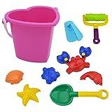 9 Pz Beach Sabbia Giocattoli Toys Set Benna con la Pala Rullo livellatore Pala di Sabbia Stampi Tartarughe Conchiglie Starfish Granchi e Piccoli Pesci