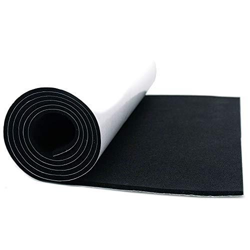 Espuma impermeable (25 x 90 cm, EVA, alta densidad, 3 mm), color negro