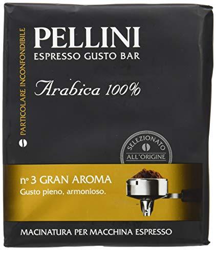 Pellini Caffè Macinato per Macchina Espresso n.3 gran Aroma, 2 confezioni da 250 gr