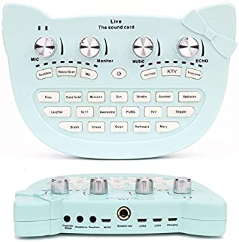 XKiss Live Sound Card Audio Mixer Board wiht Bluetooth 18 Sound Effects
