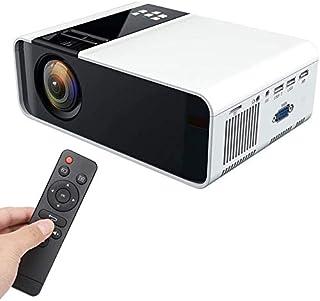 ZLSANVD Projector W10 Ultra-HD 1080P LED Mini Projector White Home Cinema Projector(480P Same Screen Version) with Rich Ex...