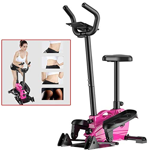 2-In1 Elliptical Cross Steppers,Treadmills Home Multi-Function Mini Elliptical Machine Silent Jogging Slimming Weight Loss Machine Fitness Climbing-with