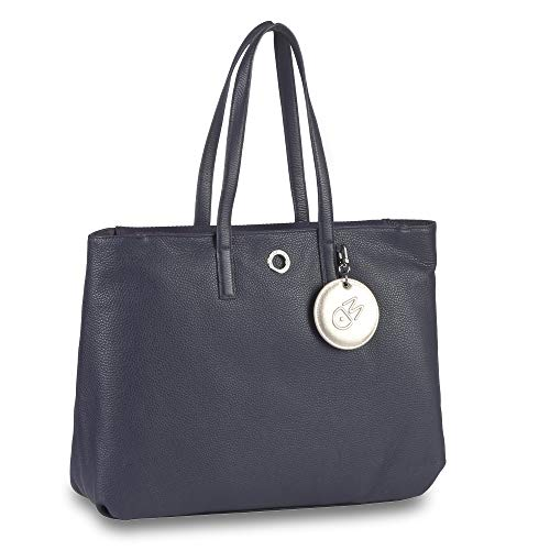 Mandarina Duck Mellow Leather Shopper Dress Blue