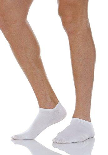 Relaxsan 560S (Blanco, Tg.2) Calcetines cortos para diabéticos con tejido natural Crabyon