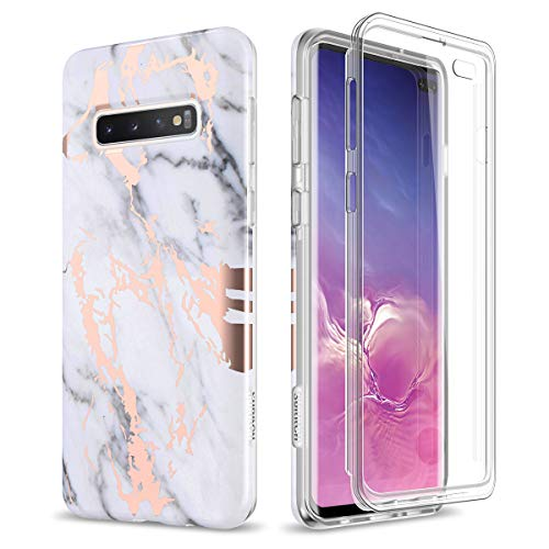 SURITCH Case for Galaxy S10 Plus,[Built-in Screen Protector] Rose Gold...