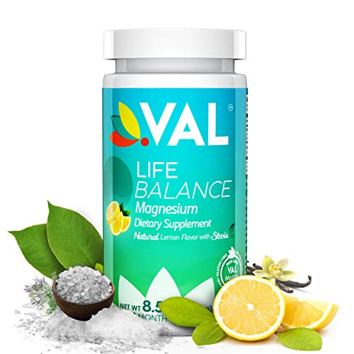 VAL Magnesium Glycinate, Citrate, Taurate & B6. Maximum Absorption & Bioavailability. Magnesium Deficiency Treatment. Natural Pain Relief. Headaches, Migraines, Muscle Cramps. Organic Stevia / Non-GMO