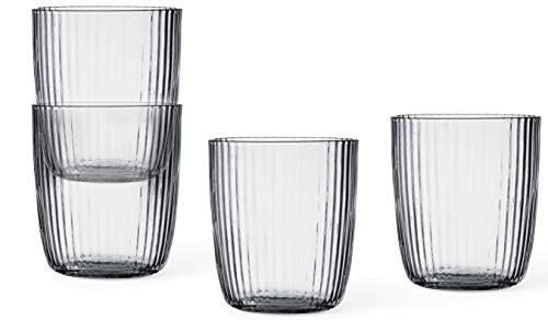 VIVA scandinavia Wasser-Gläser Set: 4 teilig, 0.3 Liter, robust, ideal für alle Kalt-Getränke |handgefertigt