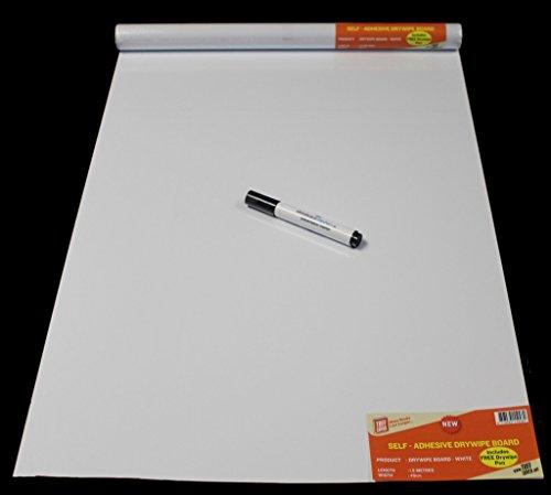 Dintex Lámina Autoadhesiva Decorada, Vinilo, Blanco, 45 cm x 1,5 m