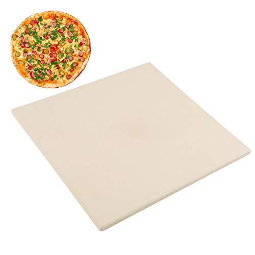 Pizzasteen verwijderen, vierkant Cordieriet bakstenen voor grill, oven of camper, 30,5 cm x 30,5 cm (12