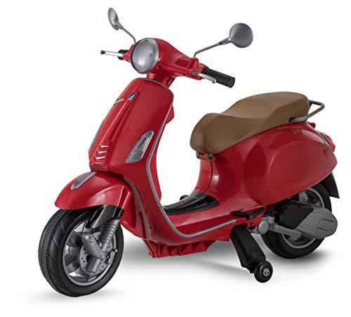 Kid Trax Vespa Scooter, 6V Ride-On Toy in Red, Model Number: KT1419I