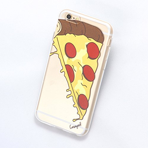 CaseYard Porción de Pizza TPU Transparente Funda para iPhone 6/6S, iPhone 6 Plus/6S Plus, iPhone 5/5S,…