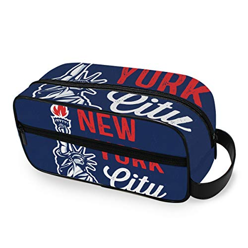 New York City Tools Cosmetic Train Case Box Portable Travel Storage Toiletry Pouch Makeup Bag