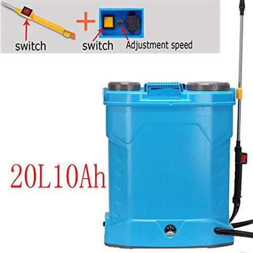 DDPWQ Elektrisches Drucksprühgerät, Rückenspritze, Drucksprühgerät mit Batterie, Verwenden für Pestizidspray, Gemeindegrünung, Reinigung von Autos