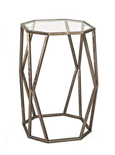 HAKU Möbel Mesa auxiliar Fania 3 bronce antiguo