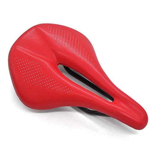 ZXPP Asiento Bicicleta Sillín De Fibra De Carbono De 143/155 MM, Sillín De Bicicleta De Montaña De Carretera, Sillín De Bicicleta De Montaña para Hombres, Asiento De Carrera Cómodo Sillín (Color : 3)